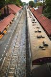 Pociągi, jeden typ transport w Tajlandia Zdjęcia Royalty Free