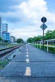 Pociągi, jeden typ transport w Tajlandia Zdjęcia Stock