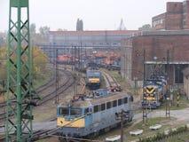 Pociągi w Ferencvaros Zdjęcie Stock