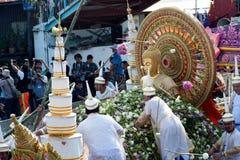 Pocierania Bua festiwal w Tajlandia (Lotosowy miotanie festiwal) Obraz Stock