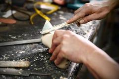 Pociesza i projektuje buty robić mierzyć Obraz Royalty Free