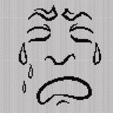 Pocieszni i zniekształcający grymasów płacze ilustracji