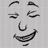 Pocieszny i uśmiechnięty grymas ilustracja wektor