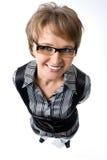 Pocieszny portret biznesowa kobieta Zdjęcia Stock