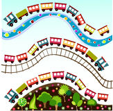 pociąg deseniowa tapeta Fotografia Royalty Free
