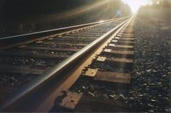 pociąg toru Zdjęcie Royalty Free