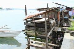 Pocilgas sobre el mar en Manokwari imágenes de archivo libres de regalías