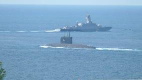 Pocisk łodzie i pocisk łódź podwodna zdjęcie wideo
