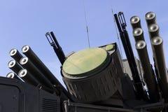 Pocisk i przeciwlotniczy system broni Obrazy Royalty Free
