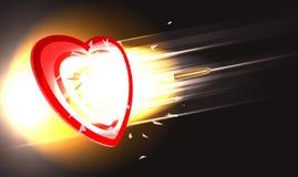Pocisk przez serca ilustracja wektor