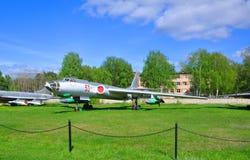 Pociska dalekiego zasięgu przewoźnika bombowiec Tu-16K w siły powietrzne muzeum w Monino robi Moscow regionu Russia znaka myśli c zdjęcia stock