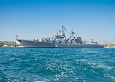 Pociska krążownik w Rosyjskiej marynarce wojennej Czarna Denna flota Fotografia Royalty Free