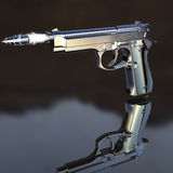 pociska latania pistolet Zdjęcie Stock