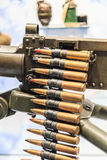 Pociski i maszynowy pistolet Zdjęcia Stock