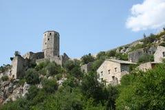Pocitelj中世纪镇 免版税库存图片