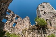 Pocitelj,波斯尼亚黑塞哥维那镇  免版税库存照片