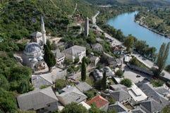 Pocitelj,老镇在波斯尼亚&黑塞哥维那 库存照片
