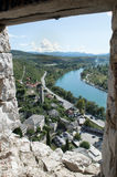 Pocitelj,老镇在波斯尼亚&黑塞哥维那 免版税库存照片
