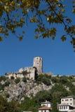 Pocitelj,老镇在波斯尼亚&黑塞哥维那 库存图片