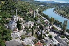 Pocitelj, παλαιά πόλη στη Βοσνία & την Ερζεγοβίνη Στοκ Φωτογραφία