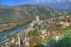 Pocitelj in Bosnia and Herzegovina - old fortress stock image