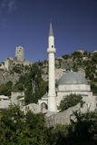 pocitelj Village mosque in Bosnia Hercegovina Royalty Free Stock Photography