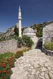 Pocitelj village, with mosque and fort. Near mostar in Bosnia Herzegovina Stock Images