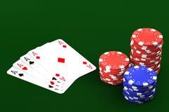 Pocker Spiel Stockbild