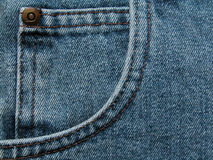 Pocket. Jeans pocket Royalty Free Stock Photography