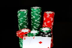 Pocket Aces. A pair of aces at the showdown Stock Photography