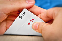 Pocket aces Royalty Free Stock Photos
