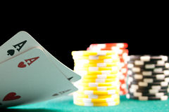 Pocket Aces Royalty Free Stock Photo