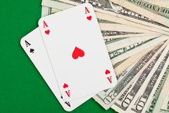 Cash poker Stock Images