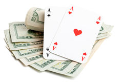 Cash poker Royalty Free Stock Photos