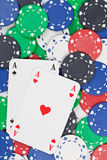 Pocket aces Royalty Free Stock Images