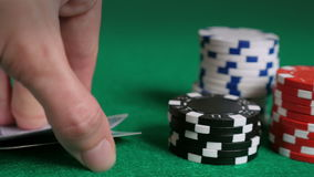 Pocket Aces, Stacked Chips and Poker Title Screen stock footage