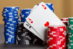 Pocket aces Stock Images