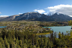 Pocket alpine lakes and rugged rocky terrain, northwestern BC Royalty Free Stock Photography