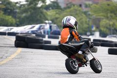 Pocket Bike Race Royalty Free Stock Photography