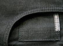 Pocket of black jeans texture Royalty Free Stock Photo