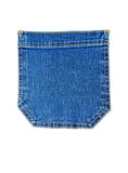 Pocket of blue jeans Stock Image