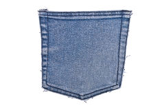 Pocket blue jeans Royalty Free Stock Image