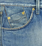 Pocket of blue jeans Royalty Free Stock Photo