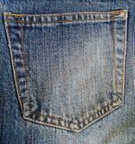 Pocket of blue jeans Stock Image