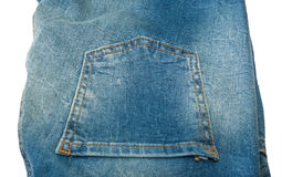 Pocket on blue jeans Royalty Free Stock Photos