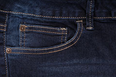 A pocket of blue jeans Royalty Free Stock Images