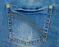Pocket of blue jeans Royalty Free Stock Images