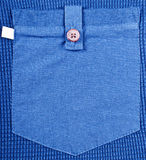 Pocket blue shirt. Close up Royalty Free Stock Images
