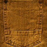 Pocket of brown jeans Royalty Free Stock Images