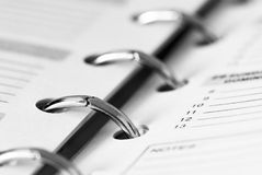 Pocket business  planner. A detail of a pocket business planner Stock Photo